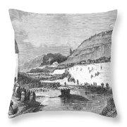Mormon Baptismal, 1873 Throw Pillow