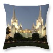 Mormon Cathederal San Diego 2 Throw Pillow