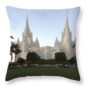 Mormon Cathederal San Diego Throw Pillow