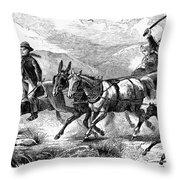 Mormon Family, 1874 Throw Pillow