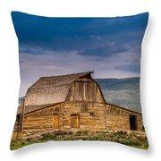 Mormon Row Barn 2 Throw Pillow