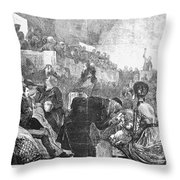 Mormon Service, 1871 Throw Pillow