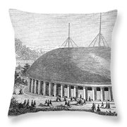 Mormon Tabernacle, 1870 Throw Pillow