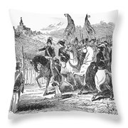 Mormons At Nauvoo, 1840s Throw Pillow