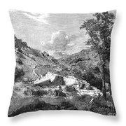 Mormons Emigrating, 1857 Throw Pillow