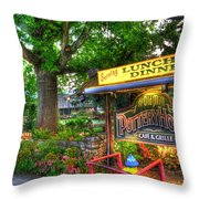 Morning At Pottery House Throw Pillow