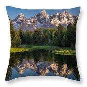 Morning At Schwabacher Landing Throw Pillow