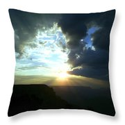 Morning Breaks At The Canyon Throw Pillow