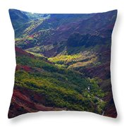 Morning Waimea Canyon Throw Pillow