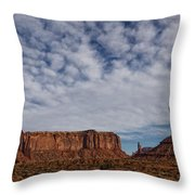 Morning Clouds Over Monument Valley Throw Pillow