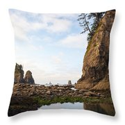 Morning Columns Throw Pillow
