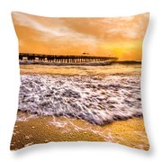 Morning Gold Rush Throw Pillow