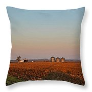 Morning In The Heartland Watercolor Photoart I Throw Pillow