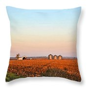 Morning In The Heartland Watercolor Photoart II Throw Pillow