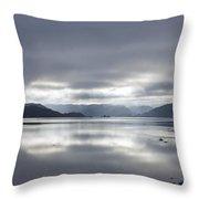 Morning Light On The Loch Throw Pillow