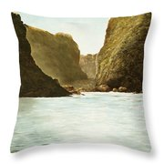 Morning Light On The Pacific Throw Pillow