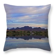 Morning Light On The River Throw Pillow