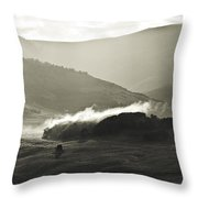 Morning Mist Crested Butte Colorado Throw Pillow