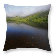 Morning Mist Over Gougane Barra Lake Throw Pillow