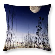 Morning Moonscape Throw Pillow
