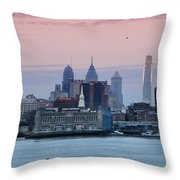 Morning On The Delaware River Throw Pillow