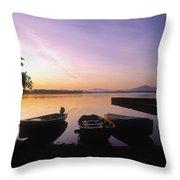 Morning Over Lough Leane, Killarney, Co Throw Pillow