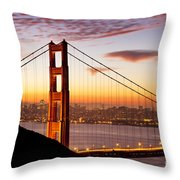 Morning Over San Francisco Throw Pillow