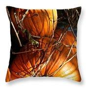 Morning Pumpkins Throw Pillow