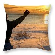 Morning Reverence Throw Pillow