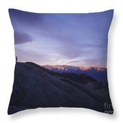 Morning Shooting Death Valley Throw Pillow