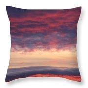 Morning Sky Portrait Throw Pillow