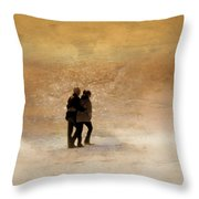 Morning Stroll Throw Pillow