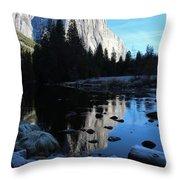 Morning Sunlight On El Cap Throw Pillow