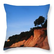 Morning View Of The White Cliffs Throw Pillow