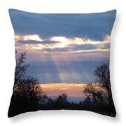 Mornings Heavenly Light Throw Pillow