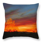Morning's Magical Light Throw Pillow