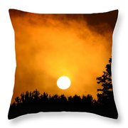 Morning's Mysterious Sunrise Throw Pillow