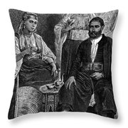 Moroccan Jews, C1892 Throw Pillow