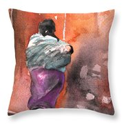 Moroccan Woman With Baby Detail Throw Pillow