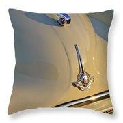Morris Minor 1000 Hood Ornament Throw Pillow