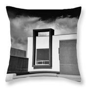 Morrison Window Bw Palm Springs Throw Pillow