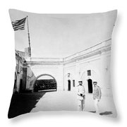 Morro Castle - Interior - San Juan - Puerto Rico - C 1900 Throw Pillow
