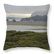 Morro Rock From The Elfin Forest Throw Pillow