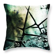Mortal Combat Throw Pillow by Judi Bagwell