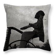 Mortality Road Throw Pillow