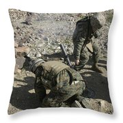 Mortarmen Cover Their Ears And Avert Throw Pillow