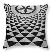 Mosaic Black And White Floor Throw Pillow