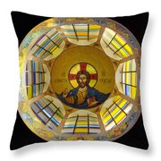 Mosaic Christ Throw Pillow