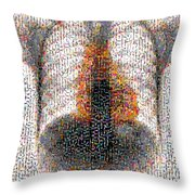 Mosaic Of Chest X-ray Throw Pillow