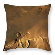 Mosaic Of Viking Orbiter Showing Throw Pillow